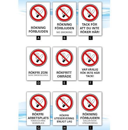 Skylt, Rökning förbjuden, A4, 210x297mm