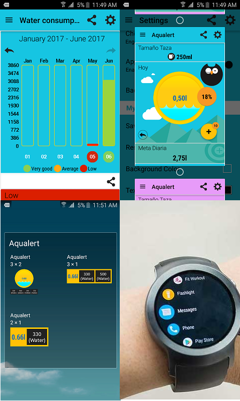 Aqualert Premium: Water Tracker Intake & Reminder- screenshot