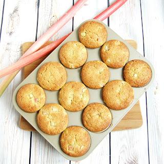 Rhubarb Ginger Lemon Muffins.