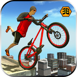 Superhero BMX bicycle Stunts rider 2017-Rooftop 3D
