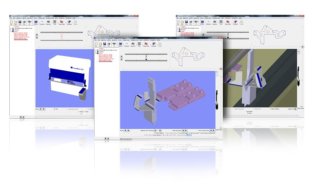 Автономный модуль для компьютерной симуляции гибки и подготовки NC-кода для гибочных операций Radan Radbend