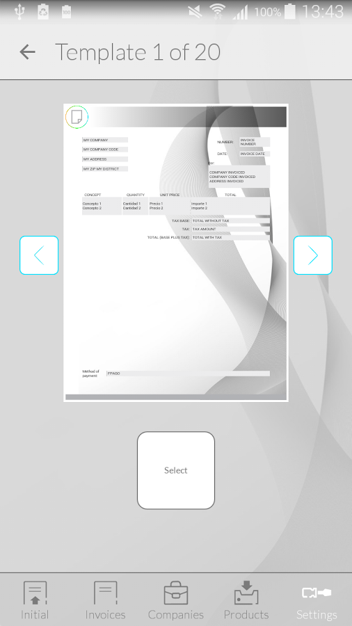Invoices with iFacturas PRO- screenshot
