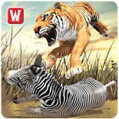 Angry Tiger Jungle Survival 3D