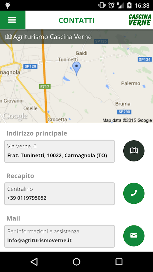 Agriturismo Cascina Verne- screenshot