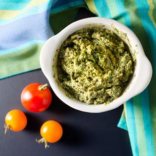 Avocado Pesto Spread.