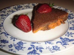 Photo: Marga. Versión de la tarta rosca de chocolate y naranja, del libro de postres sin, pero la mia no es de rosca y en vez de naranja lleva boniato