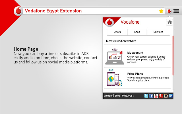 Vodafone Egypt Extension