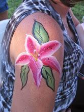 Photo: Flower body painting by Maria, Chino, Ca 888-750-7024 http://www.memorableevententertainment.com/FacePainting/MariaChino,Ca.aspx