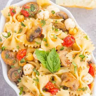 Roasted Mushroom and Tomato Pasta Salad.