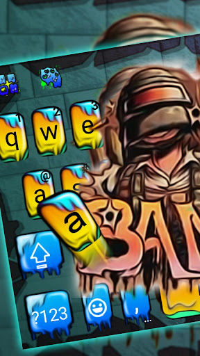 Hot Graffiti Hunter Keyboard Theme screenshots 1