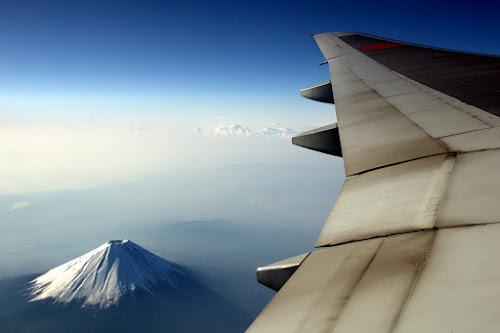Aile d'avion et Mont Fuji