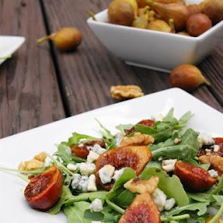 Marinated Fig and Arugula Salad with Blue Cheese & Walnuts