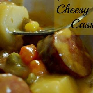 Crock Pot Cheesy Sausage Casserole.