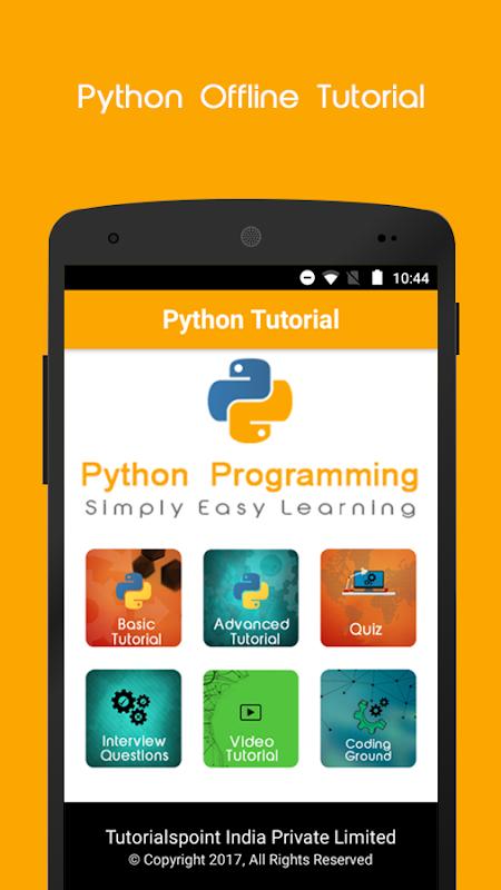 Python Offline Tutorial APK 1 4 Download - Free Education APK Download