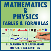 TABLES AND FORMULAS FOR MATHS AND PHYSICS