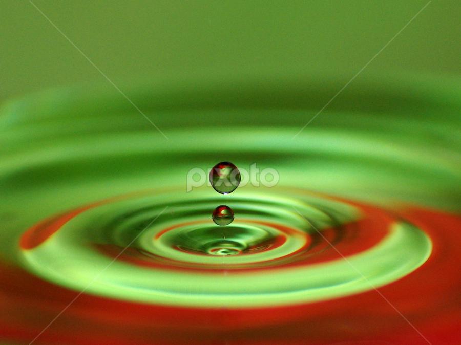 drops by Hale Yeşiloğlu - Abstract Water Drops & Splashes ( drop )