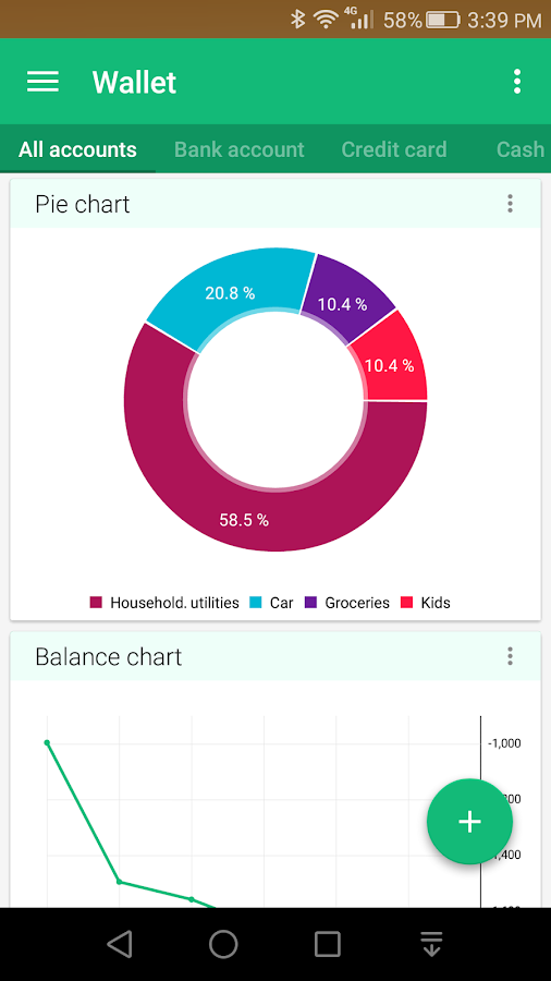 Wallet - Budget Tracker- screenshot