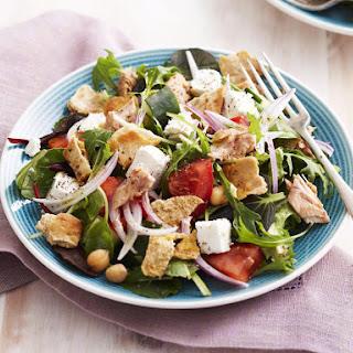 Salmon and Chickpea Fattoush Salad