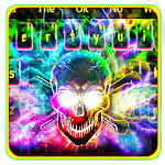 Colorful Smokey Neon Skull Icon
