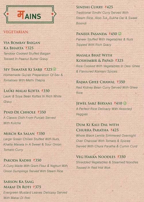 Via Bombay menu 5
