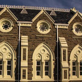 Windows of Graaf-Reinette's Church by Elna Geringer - Buildings & Architecture Places of Worship
