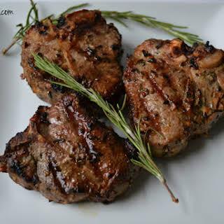 Garlic & Rosemary Grilled Lamb Chops.