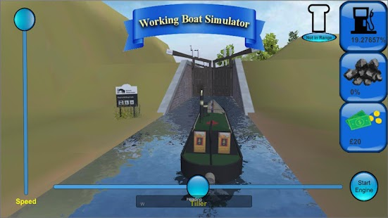 Working Canal Boat Simulator Screenshot
