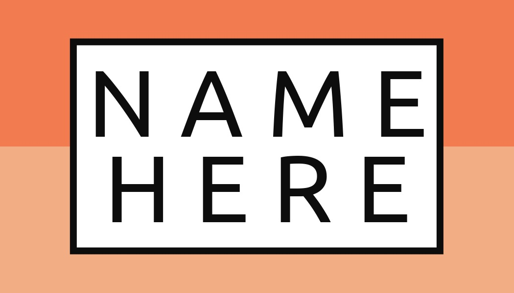 name tag template with white box