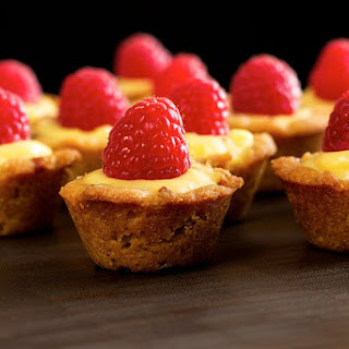 Paleo Lemon Raspberry Bite Size Tarts