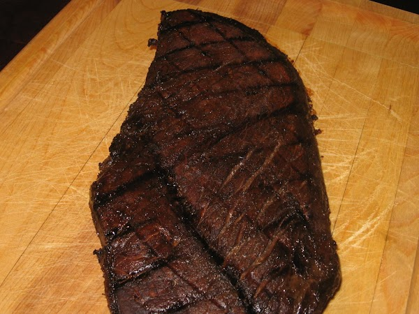 The steak will be almost black on the outside, it is not burned. ...
