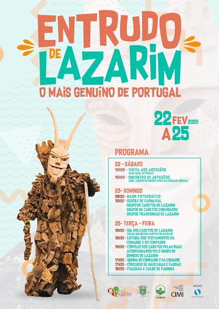 Programa – Entrudo de Lazarim – 22 a 25 de Fevereiro de 2020 – Lamego