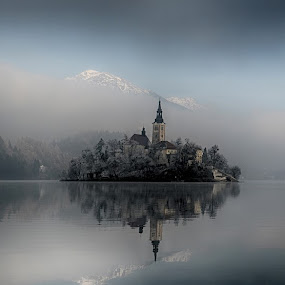Bled by Jani Novak - Landscapes Waterscapes ( winter, bled )