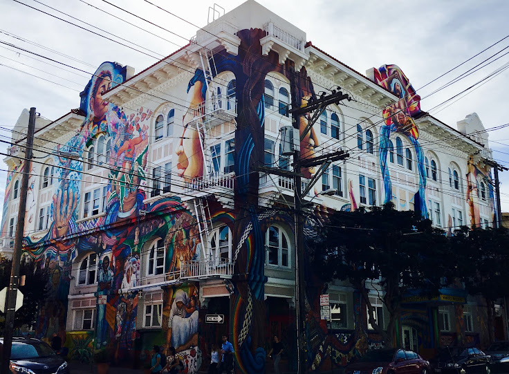 The Women's Building, wrapped in murals.