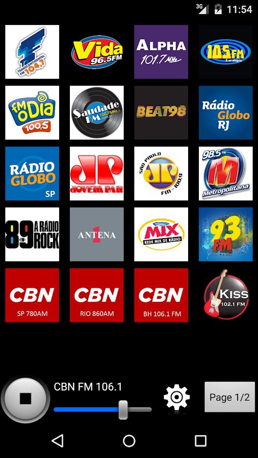 Radios Brazil- screenshot