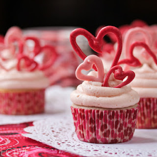 Cherry Buttermilk Cupcakes with Cherry Buttercream Frosting