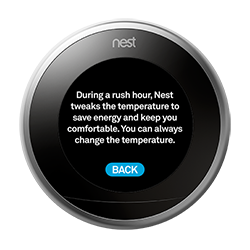 Nest thermostat rush hour rewards info