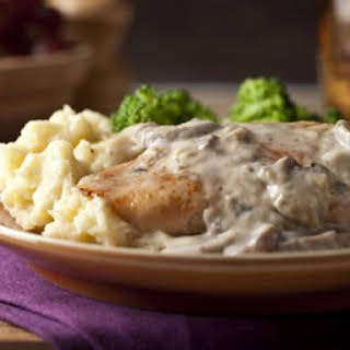 Chicken with Creamy Sherry Mushroom Sauce.
