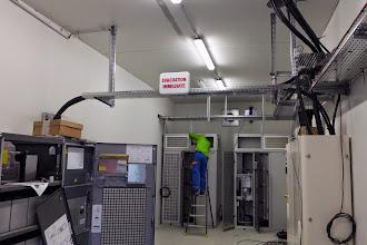 Photo: Local électrique - témoin d'evacuation #datacenter #reims (Visite de chantier 06.11.2014)