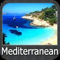 Mediterranean Sea GPS Nautical and Fishing Charts icon