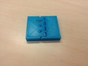 Photo: One of Hank's no-overhang, no-support print-in-place hinges.  http://www.thingiverse.com/thing:83033