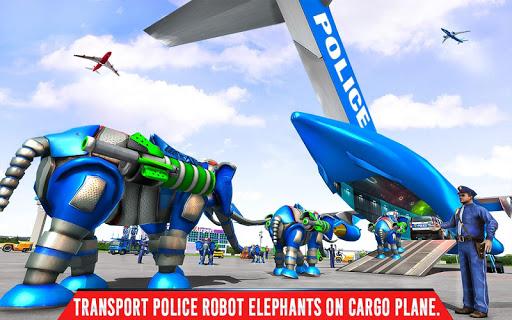 Police Elephant Robot Game: Police Transport Games 1.0.1 7