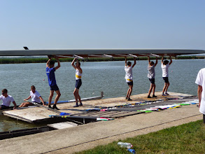 Photo: Row track in Velence, Hungary.