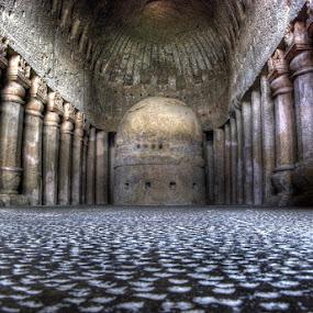 Kanheri Caves by Aparajita Saha - Buildings & Architecture Public & Historical ( buddhist, india, monument, maharashtra, kanheri caves, basalt )