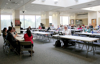 Photo: Food security workshop attendees listen to the food varieties panel on Tuesday, Sept. 20, 2016.