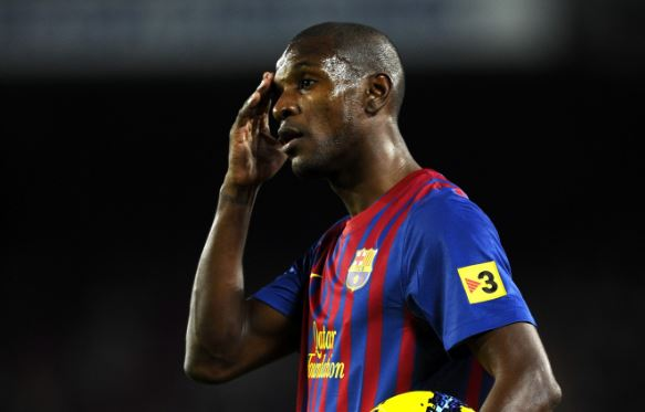 Former FC Barcelona player Eric Abidal during the spanish league match against Rayo Vallecano at the Nou Camp Stadium on November 29, 2011 in Barcelona, Spain, Picture: 123RF/Sportgraphic