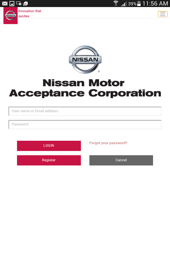 Nmac account manager android apps on google play for Nissan motor finance corporation