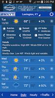 Screenshot of WKYT Weather+Traffic