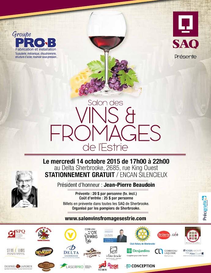 Salon des Vins et Fromages de l'Estrie 2015 www.pompiersherbrooke.com