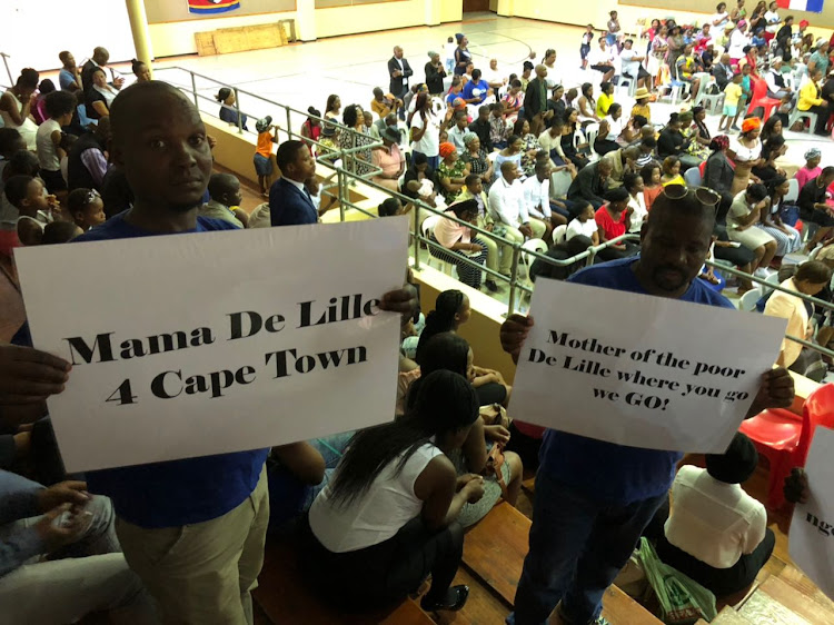 Supporters of Patricia de Lille held a prayer service for the Cape Town mayor.
