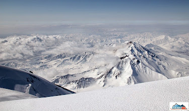 Photo: View to Aag and Arik - rock, snow and ice